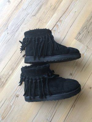UGG Australia Bottes de neige noir faux cuir
