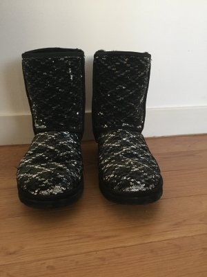 UGG Boots black-silver-colored