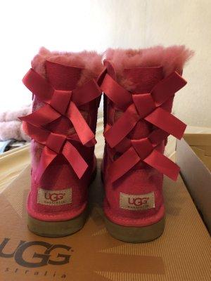 UGG Botas de piel rosa