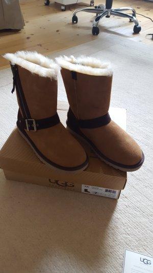 UGG Australia Stivale invernale cognac-marrone scuro Pelle