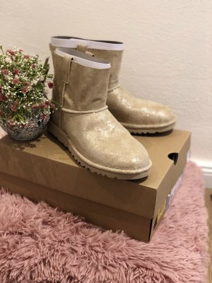 UGG Snow Boots cream-gold-colored leather