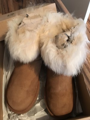 UGG Snow Boots cognac-coloured-natural white