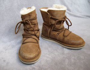 UGG Botas de nieve marrón claro Cuero