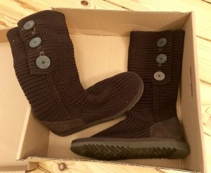 UGG Snow Boots dark brown leather