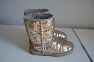 Ugg Boots Pailetten, graues Fell, Gr 39, Top