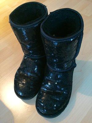UGG Boots Pailletten Classic Short Sparkles schwarz