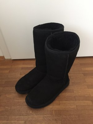 ugg boots hoch schwarz. Black Bedroom Furniture Sets. Home Design Ideas