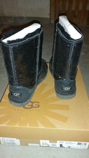 ugg boots schwarz Pailletten