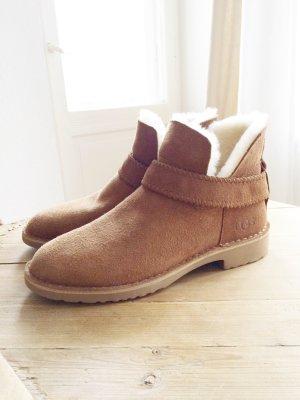 UGG Boots Stiefel Chestnut cognac braun Leder Winter Lammfell Lammwolle 39 NEU