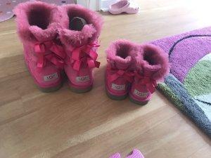 Ugg Boots UGG Australia warm Winter Lammfell pink blogger schleifen Bailey Bow