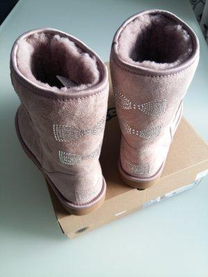 UGG Scarpina di lana rosa antico Pelle