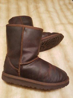 Ugg Classic Stiefel Fell Boots Echt Leder Braun Gr 36