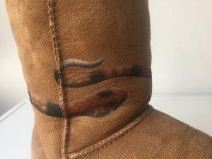 UGG Damen Winter Leder- Boots mit Schlange Gr.39 ORIGINAL