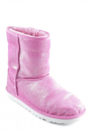 UGG Fellstiefel pink Metallic-Optik