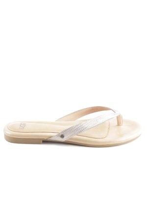 UGG Flip Flop Sandalen silberfarben-nude Casual-Look