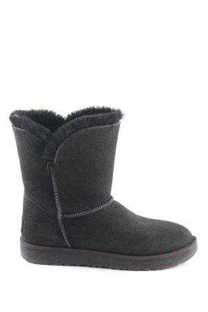 "UGG Halbstiefel ""W Classic Cuff Short Boot Black"" schwarz"
