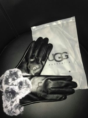 Ugg Handchuhe in Farbe Schwarz Fell Neu