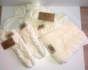 UGG Australia Knitted Gloves natural white wool