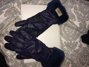 UGG Australia Fur Gloves dark violet-dark blue fur