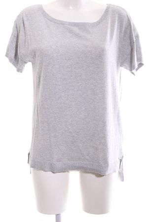 UGG Pull à manches courtes gris clair imprimé allover style décontracté