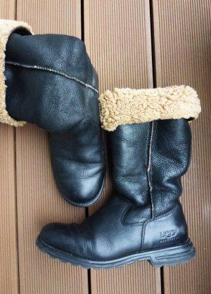 UGG Stivale in pelliccia marrone chiaro-nero Pelle