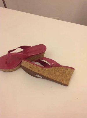 UGG Sandales à plateforme rouge framboise magenta