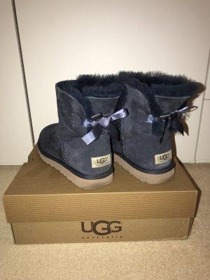 UGG Australia Stivale da neve blu scuro Pelliccia