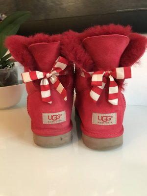 UGG Snow Boots neon red