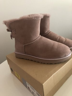 UGG Mini Bailey Bow Rosé Metallic