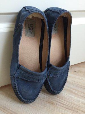 UGG Mokassin Slipper Leather blue
