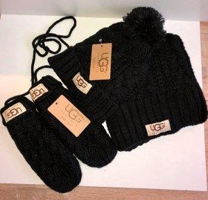 UGG Sombrero de punto negro Lana