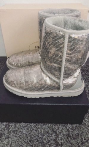 UGG Snow Boots silver-colored-light grey