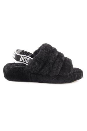 UGG Pantoufles noir-blanc style décontracté