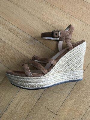 UGG Australia Sandalo con plateau bronzo Pelle