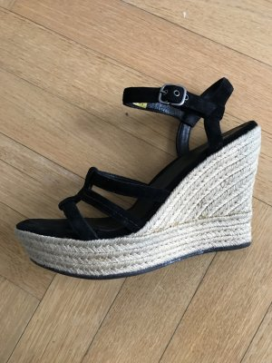 UGG Australia Sandalo con plateau nero Pelle