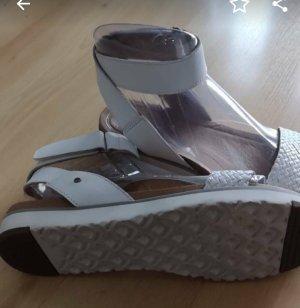 UGG Australia Strapped High-Heeled Sandals white