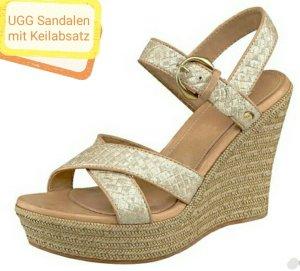 UGG Platform High-Heeled Sandal multicolored