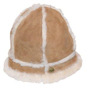 Ugg Schaffellmütze / Hut, Beige