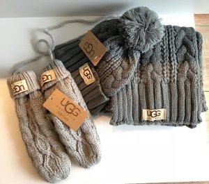 UGG Schal Farbe Grau Wolle Neu mit Etikett