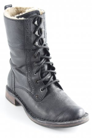 UGG Lace-up Boots black country style