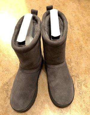 UGG Bottes de neige gris-gris foncé cuir