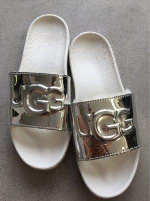 UGG Australia Heel Pantolettes white-silver-colored