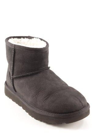 UGG Bottes de neige noir-blanc cassé motif animal style décontracté