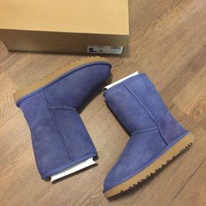 UGG Scarpina di lana blu acciaio-blu fiordaliso
