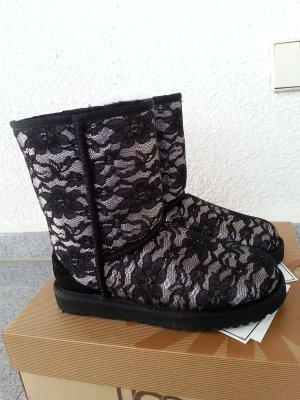 UGG Stiefel schwarz/silber Gr.38 Spitze, Swarowskisteinen neu