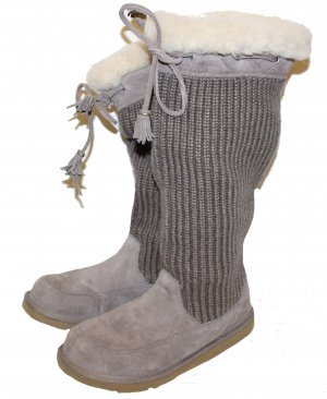 UGG Stiefel Suburb Crochet Tall Grey Clearance Gr. 39