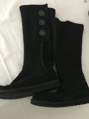 UGG Strick Stiefel in schwarz