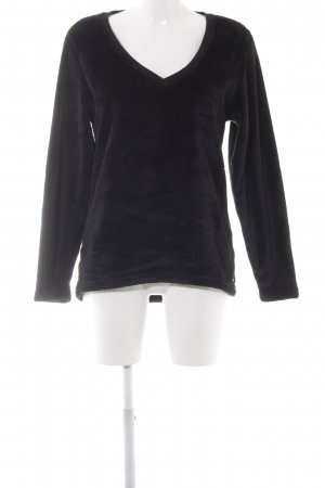 UGG V-Ausschnitt-Pullover schwarz Logo-Applikation aus Metall