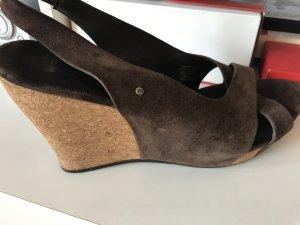 Ugg  Wedges Sandalen Keilabsatz braun