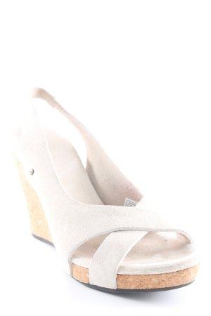UGG Wedges Sandaletten creme-hellbraun Casual-Look